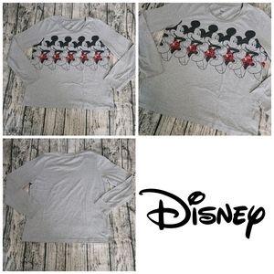 Disney Grey Mickey Mouse Lightweight Longsleeve L